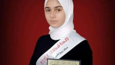 Photo of 15-year-old Palestinian girl memorizes Quran in six months