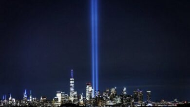 Photo of New York shines in blue for those killed in 9/11 terror attack