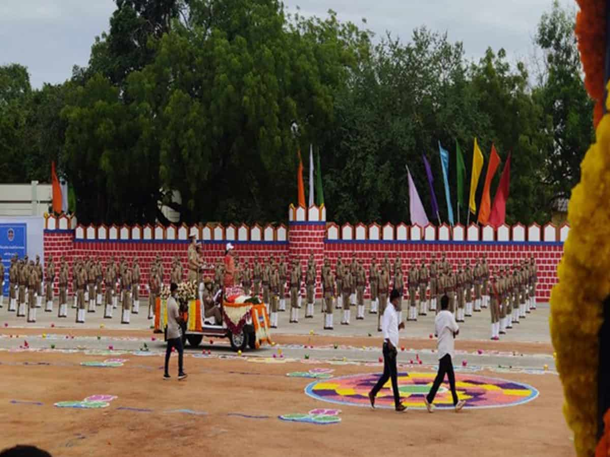Passing out parade of 273 Andhra SCT SIs held