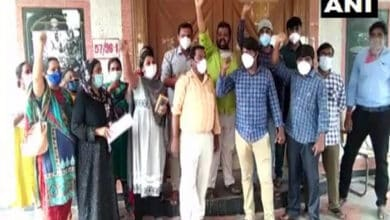 Photo of Lab technicians fear job loss, protest at DMHO office in Andhra