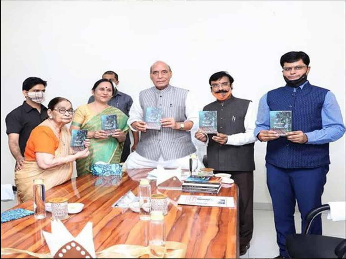 Rajnath Singh launches author Dr Krishna Saksena's 'A bouquet of flowers'