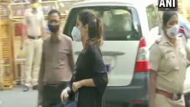 Photo of Rhea Chakraborty reaches NCB office for third straight day