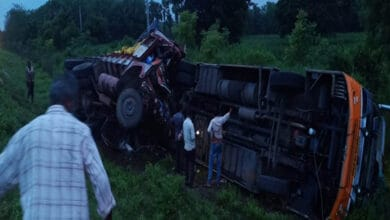 Photo of Several injured after lorry-bus collision in Andhra's Krishna