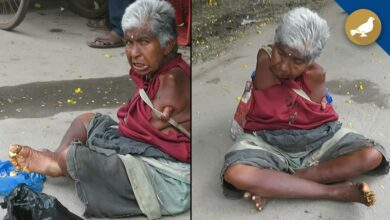 Photo of Sick of false promises, woman without hands living at Nampally Road