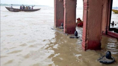 Photo of Ghats in Varanasi submerged as Ganga rises