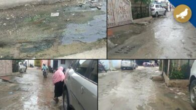Photo of Hyderabad: Sewage flow in front of Golconda front cottage