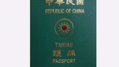 Photo of New Taiwan passports to emphasise distinction with China