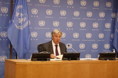 UN chief calls for int'l solidarity to find vaccine accessible to all