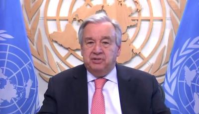 UN chief urges int'l community to come together to defeat COVID-19