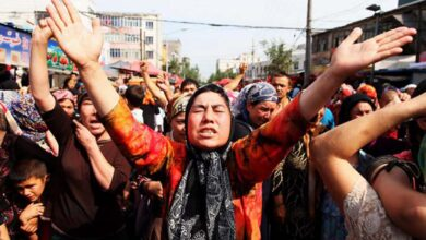 Photo of Uyghur Muslims denied fasting during Ramzan; they are forcefully fed