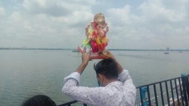 Photo of Ganesh immersion at Tankbund