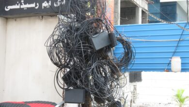 Photo of Hyderabad: Entangled cable wires left hanging from electric poles
