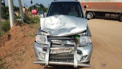 Photo of TDP Chief Chandrababu Naidu's convoy suffers accident