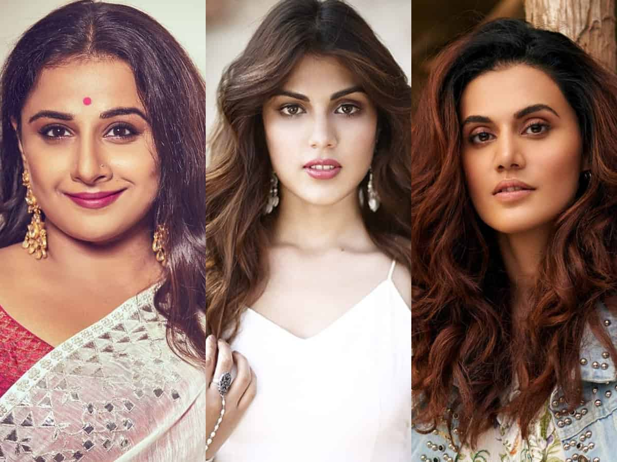 Bollywood actresses stand in support of Rhea Chakraborty