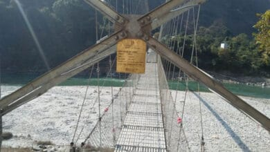 Photo of Pithoragarh suspension bridge opened at midnight for ailing Nepali girl