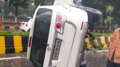 Photo of Hyderabad rains; 4 vehicles damaged across city