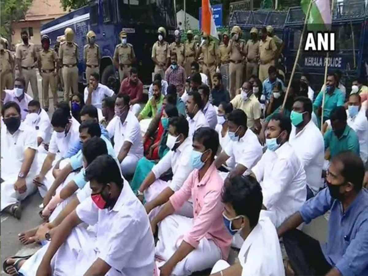 Kerala Youth Congress demands CM Pinarayi Vijayan's resignation over gold smuggling case