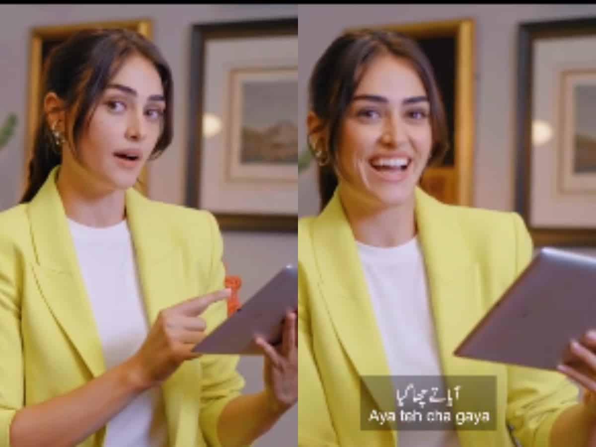 'Ertugrul' star Esra Bilgic learning Pakistani slang's video goes viral