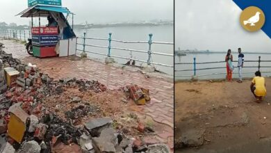 Photo of Tank Bund visitors face inconvenience due to damaged footpath
