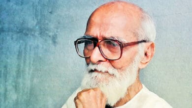 Photo of Kaloji Narayana Rao, a people's poet, fought against feudalism