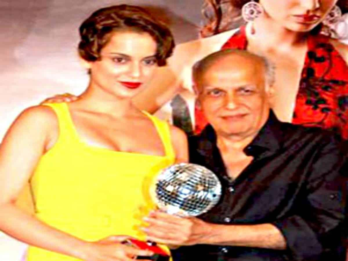 Watch: Kangana Ranaut thanking Mahesh and Mukesh Bhatt at award ceremony