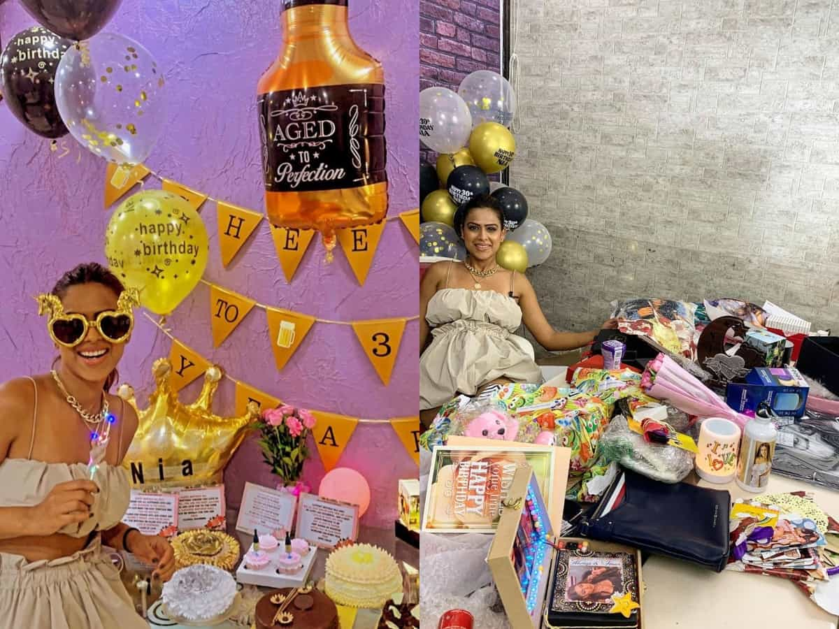 Inside Pics, videos: Nia Sharma's birthday bash loaded with cakes, gifts