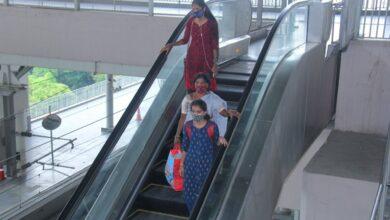 Photo of Passengers travelling in Hyderabad Metro Rail