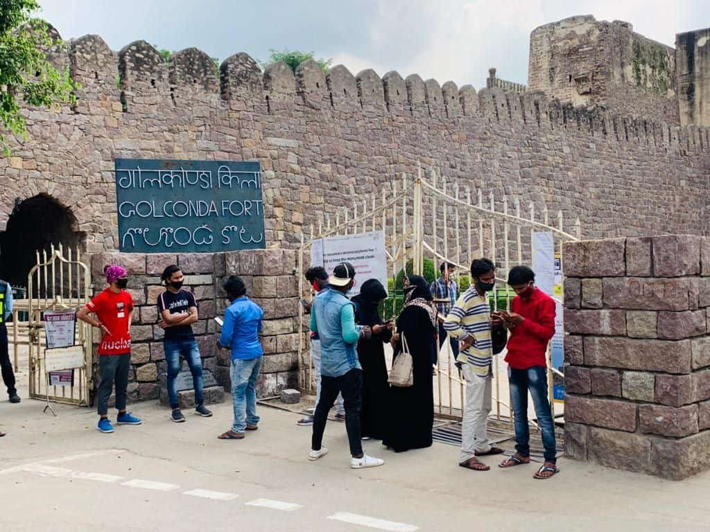 Visitors flock to historic Golconda fort in Hyderabad, After re-opening