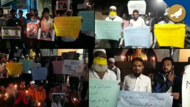 Photo of Hyderabad: Candlelight protest at First Lancer