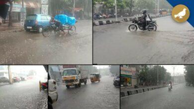 Photo of Heavy rain lashes parts of Hyderabad on Monday