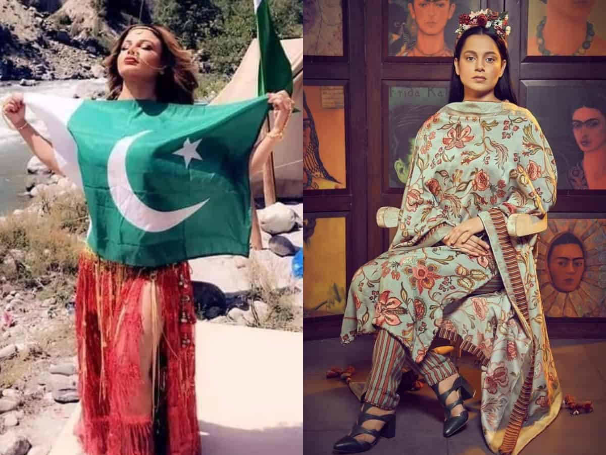 Rakhi Sawant slams Kangana's fans for making her pic with Pak flag viral