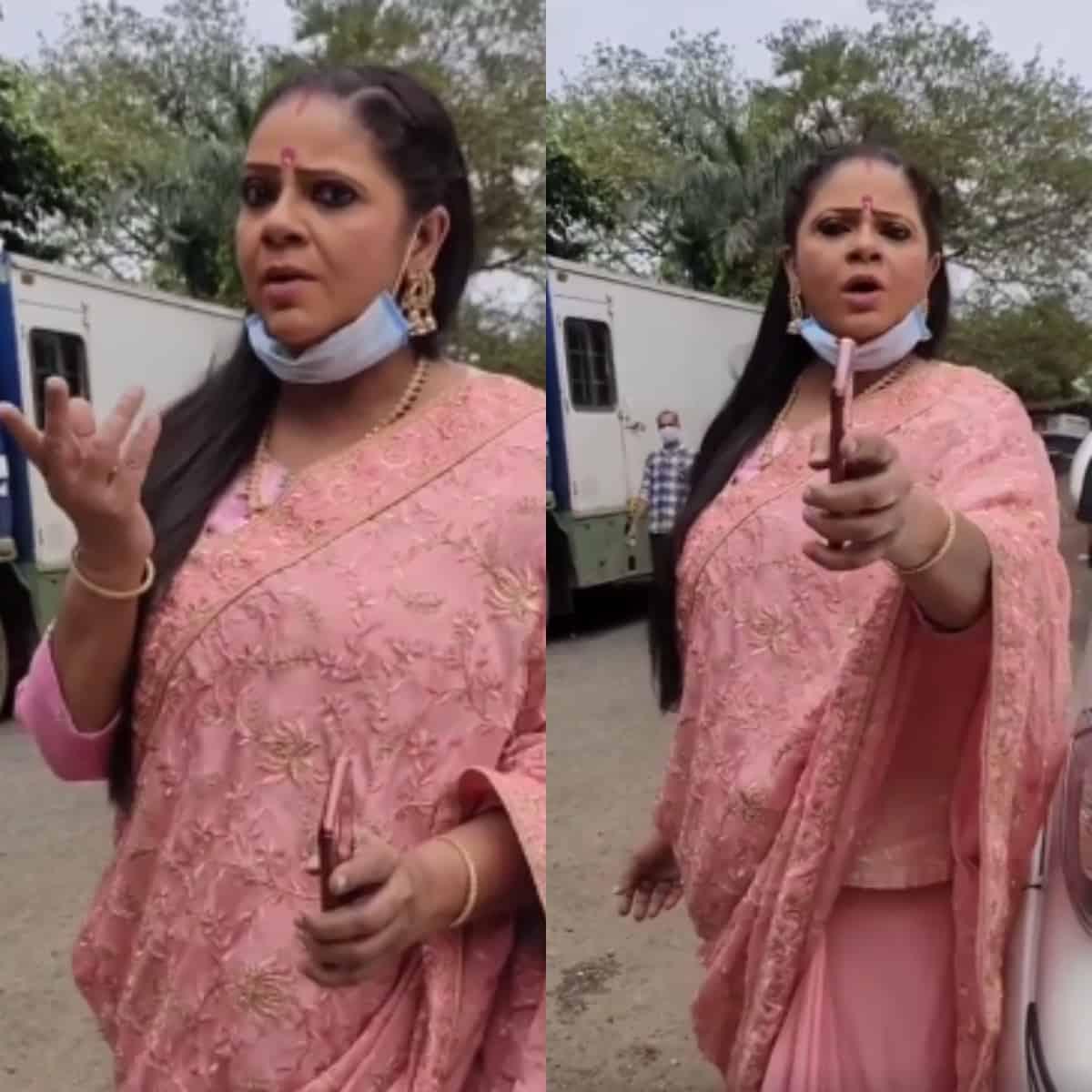 Rupal Pakel aka Kokilaben spotted recreating 'Rasode Mein Kaun Tha'