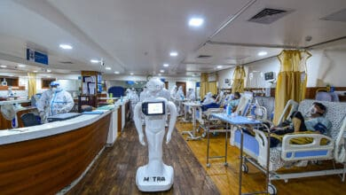 Photo of Robot helps COVID-19 patients interact with family