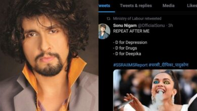 Photo of Sonu Nigam slams labour ministry for retweeting Deepika's morphed pic