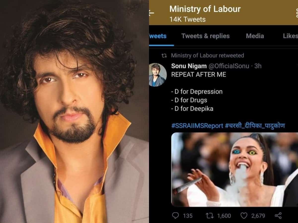 Sonu Nigam slams labour ministry for retweeting Deepika's morphed pic