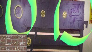 Photo of Residents find strange symbols on gates; feeling scared