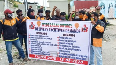Photo of Hyderabad: Swiggy delivery workers strike over drastic cuts in pay