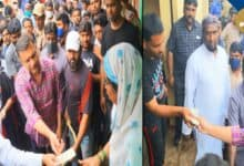 Photo of Mahmood Ali, Owaisi distributes Rs.10K each to flood-hit families in Baba Nagar