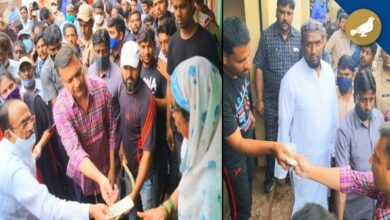 Photo of Mahmood Ali, Owaisi distribute Rs.10K each to flood-hit families in Baba Nagar