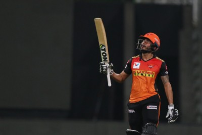 SRH ride Pandey-Shankar stand to beat RR, keep afloat (Ld)