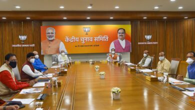 Photo of Pm Modi during Central Election Committee meeting