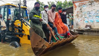 Photo of Relief operations underway in rain-hit areas of Telangana