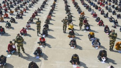 Photo of BSF recruitment rally in Srinagar