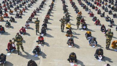 Photo of BSF recruitment rally in Srinagar
