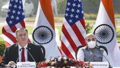 Photo of India US Press statement at Hyderabad House