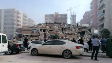 Photo of Building collapsed in Izmir, Turkey