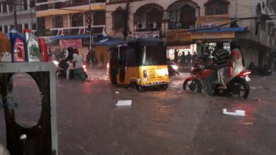 Photo of Water logging at Tolichowki after moderate rains