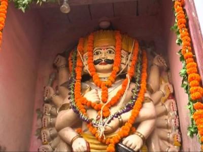 A temple where Ravan is worshipped on Dusshera