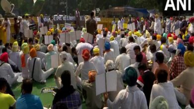 Photo of AAP's unit holds protest against farm laws at Jantar Mantar