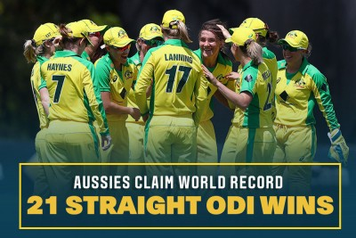 Australia women thrash White Ferns to secure record-equalling ODI win